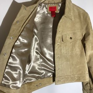 Jane Doe Jackets & Coats - Jane Doe Suede Leather Retro Beige Tan Jacket